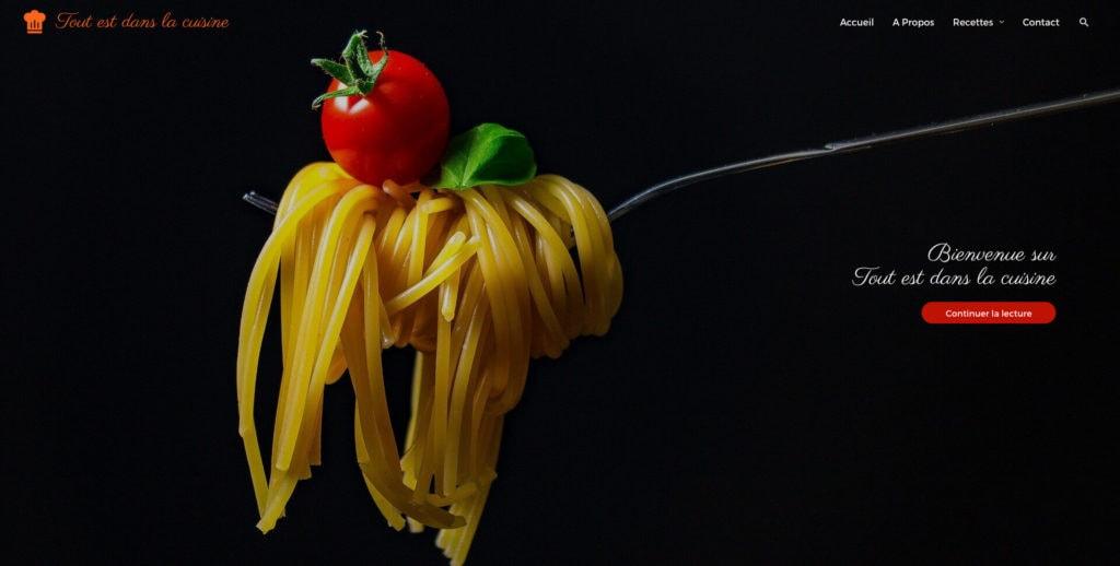 Illustration Tout est dans la Cuisine site web