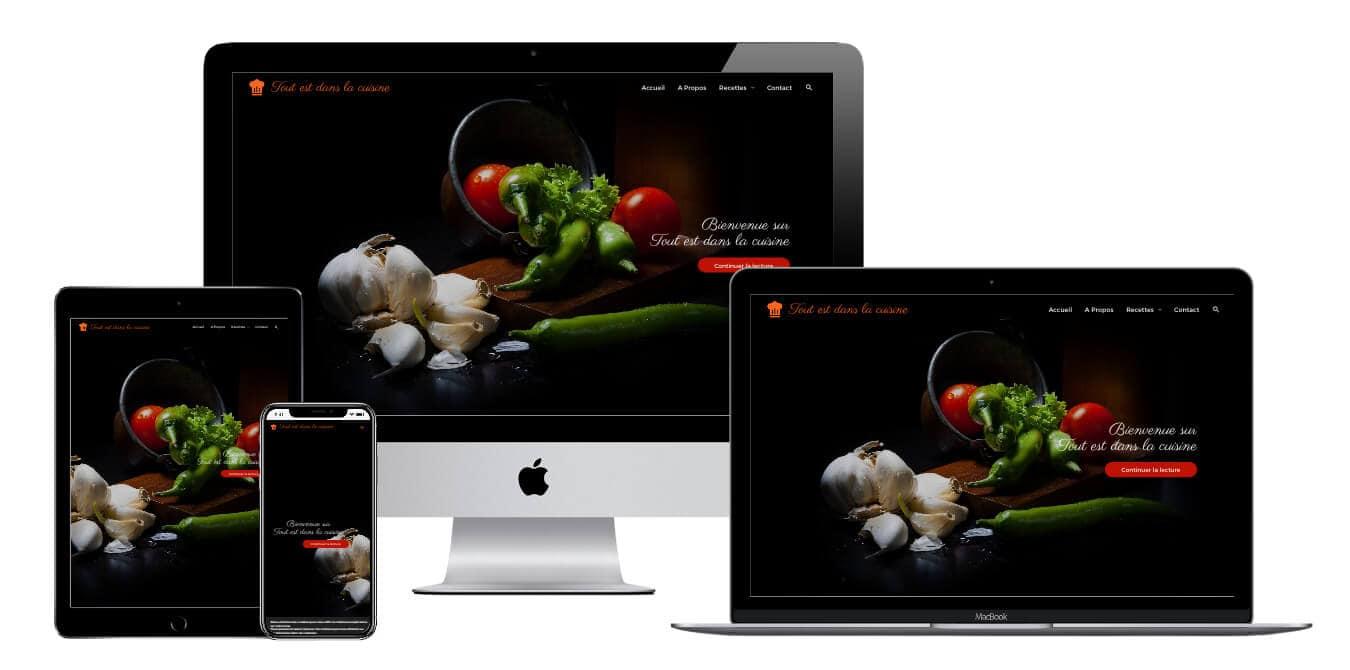 Mockup Site Web Tout est Dans La Cuisine